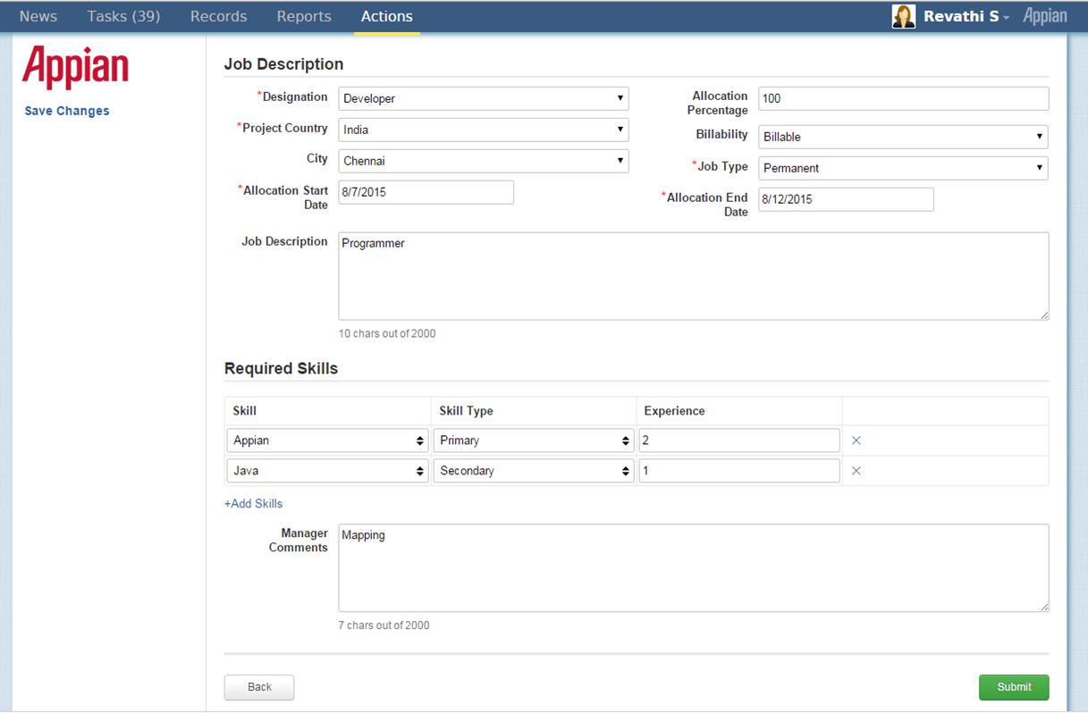 Resume Appian Developer Resume human resource management appian appmarket