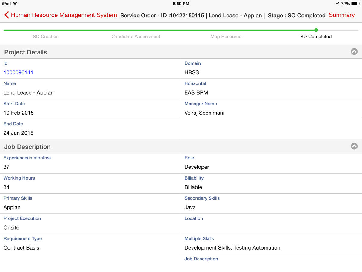 Resume Appian Developer Resume human resource management appian appmarket more applications by this author