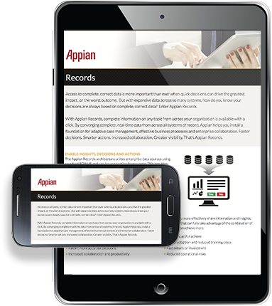 Mobile devices showing the Insurance for Sales and Marketing datasheet