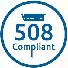 Logotipo cumplimiento con la VPAT 508