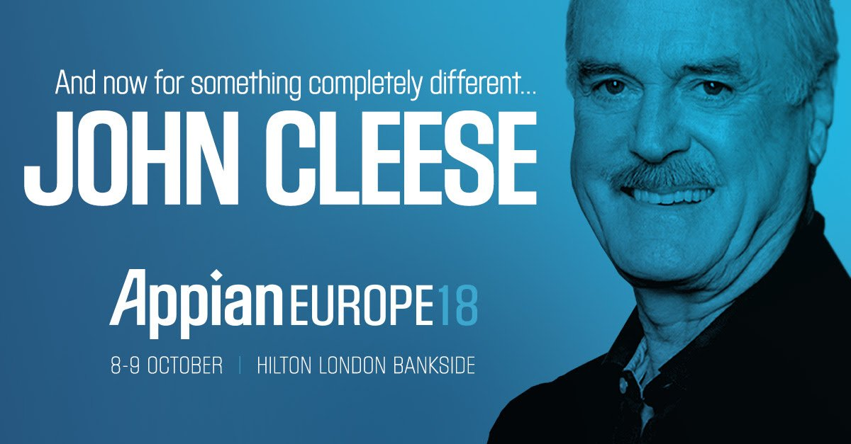appian europe 2018 - john cleese