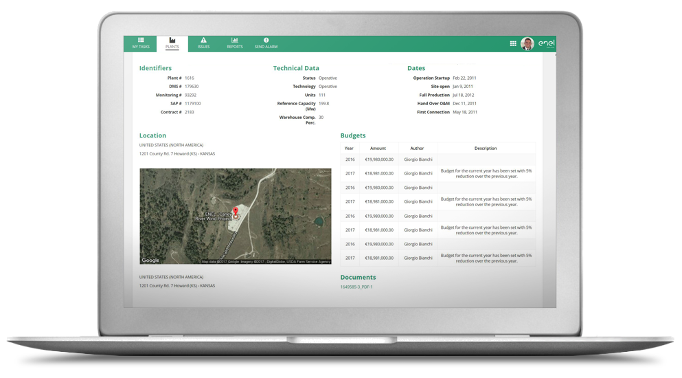 incident management dashboard for energy industry