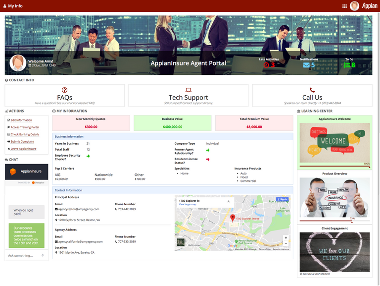 insurance portal - appian
