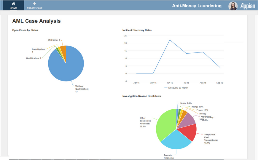 AML Compliance Dashboard - Appian