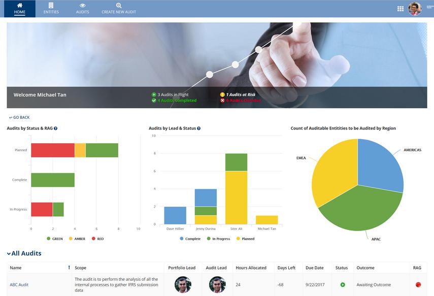 internal auditing dashboard - appian