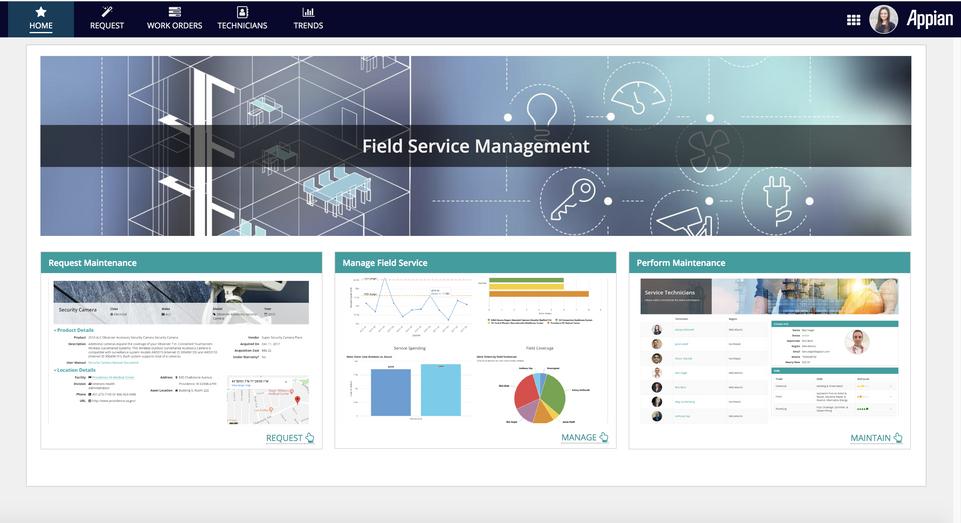 field service management dashboard