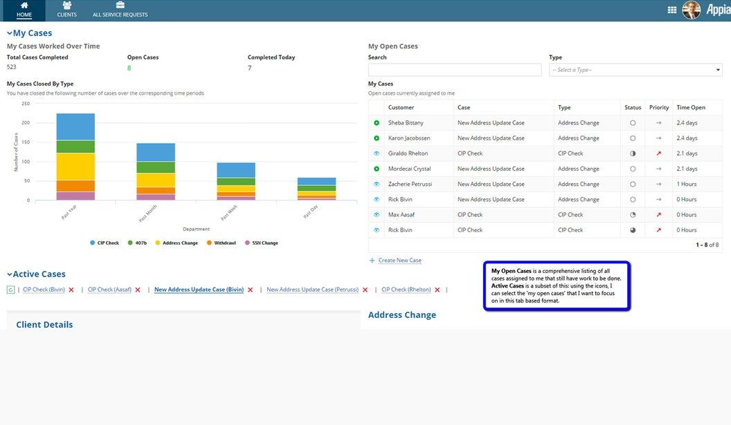 omnichannel case management dashboard - appian