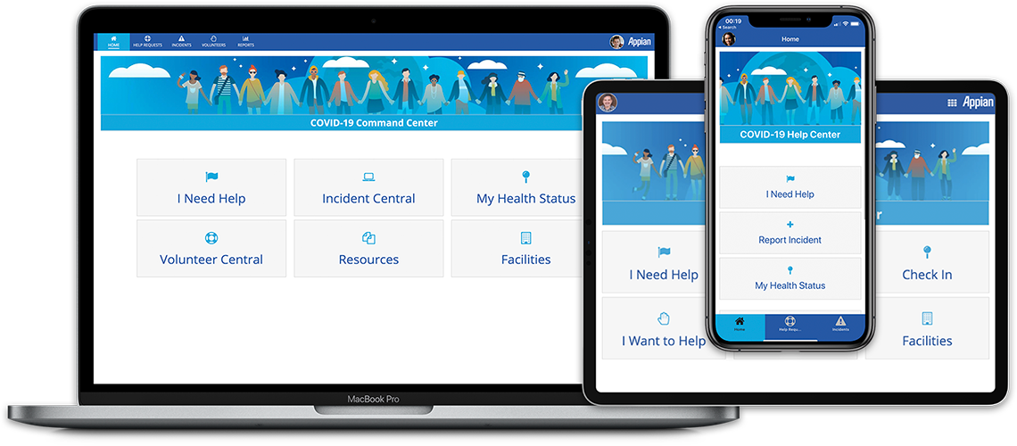 Covid Application Screenshots
