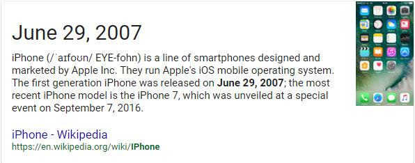 Original iPhone launch date