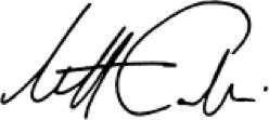 Matt Calkins signature