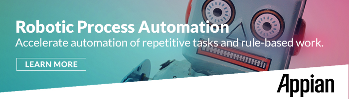Robotic Process Automation accelerates repetitive tasks and rule based work.