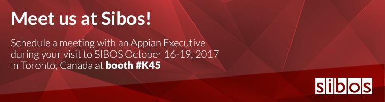 Meet Appian at SIBOS 2017