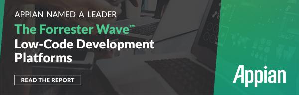 Appian named a leader in low-code app development.