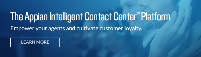 The Appian Intelligent Contact Center Platform